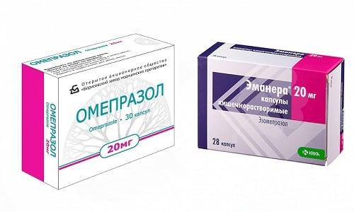 Эманера и Омепразол - препараты, применяемые для лечения гастритов и язв